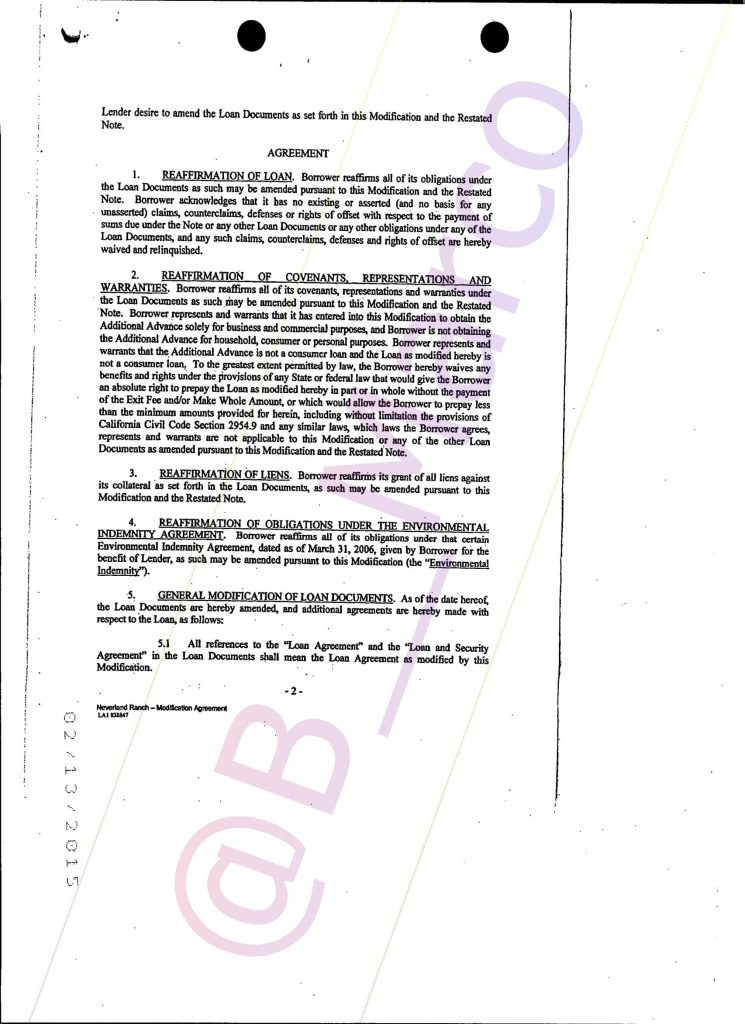 Neverland Ranch Forced Loan Papers Bmarco