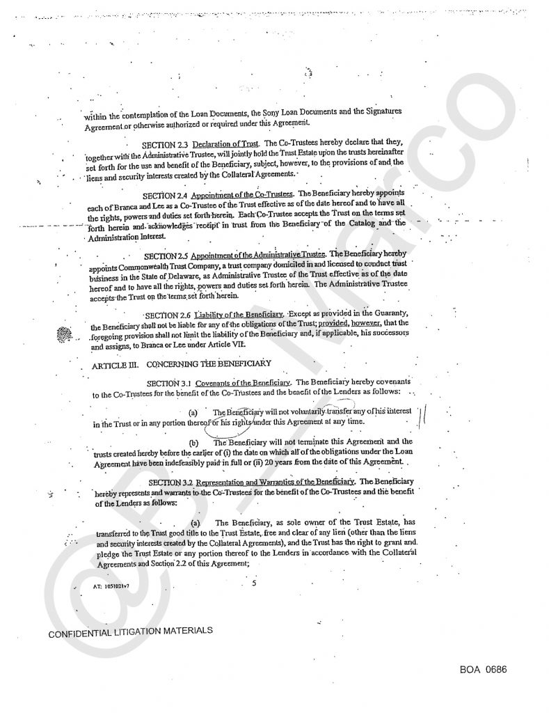 Michaeljackson S Financial Business And Loans S Papers From